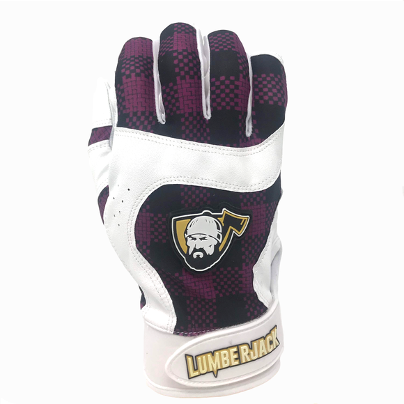 Batting Gloves - Plaid Purple