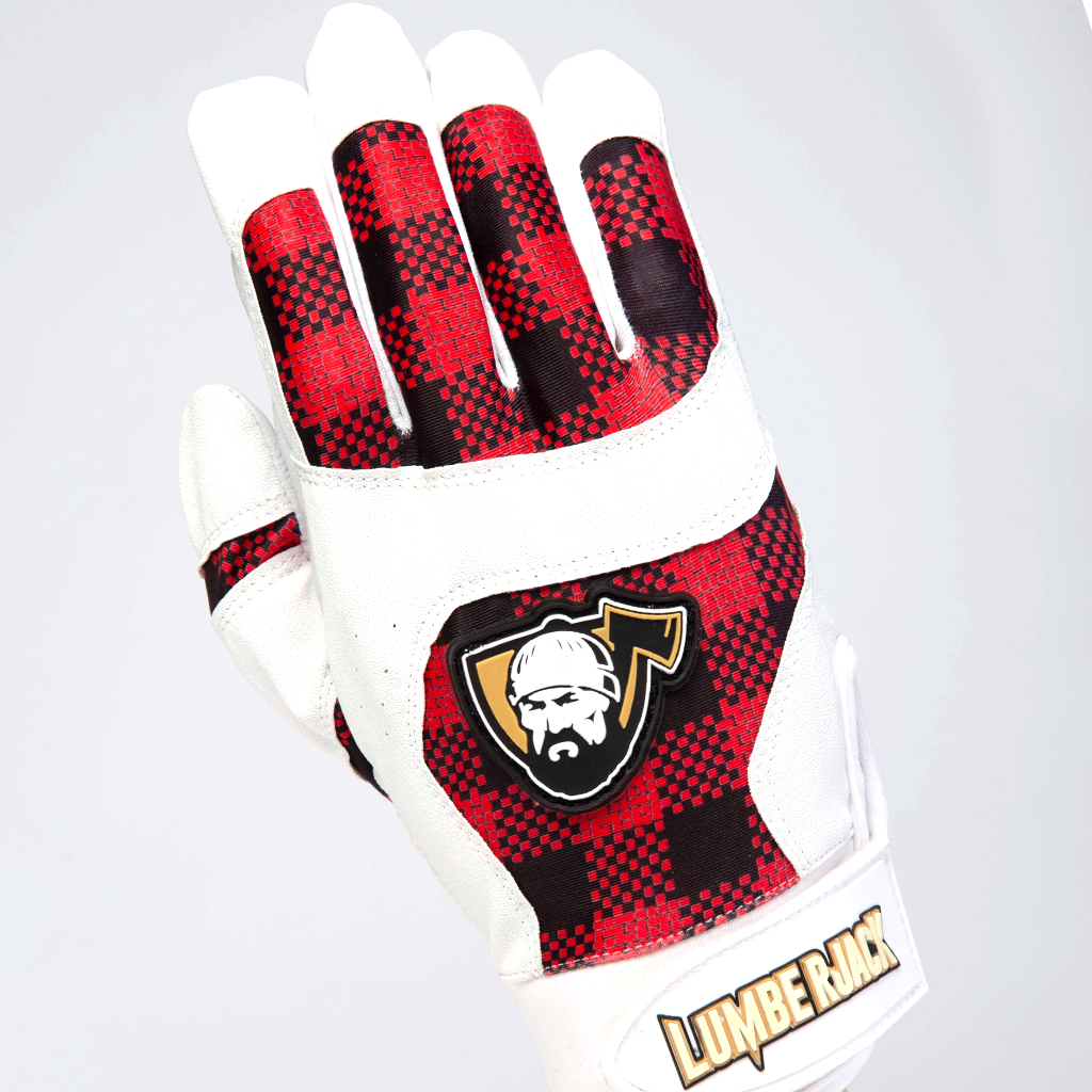 YOUTH Batting Gloves - Plaid Red