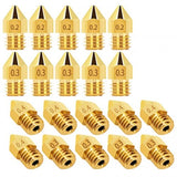 Brass Nozzle for Creality Ender - 3 / Cr - 10 / Cr - 10s / Cr - 10s Pro / Alfawise U20 / U30 Anet / Anycubic 1.75mm 3D Printer  5pcs
