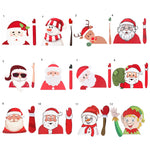 Christmas Decoration Santa Claus PVC Waving Car Stickers Styling Window Wiper Decals Rear Windshield Decor