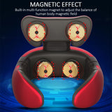 Smart Electric Neck and Shoulder Massager Pain Relief Tool Health Care Relaxation Cervical 4D Magnetic Therapy Massage Machine