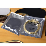 6pcs/set Universal Acoustic Guitar String Brass Hexagonal Steel Core Strings For Musical Instruments Guitars Strings Guitar Part