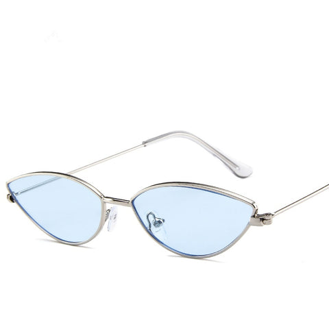 Cute Sexy Ladies Cat Eye Sunglasses Women Metal Frame 2019 Fashion Vintage Gradient Sun Glasses For Female UV400 Shades