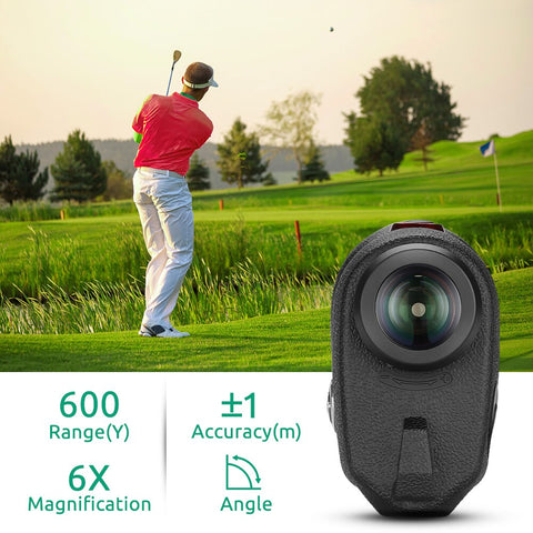 BOBLOV 6x 600M Trena Profissional Golf Rangefinder Hunting Monocular Rangefinder Outdoor Golf build-in lithium battery 3.7V
