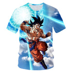 New 2019 Men's 3D T-shirt Dragon Ball Z Ultra Instinct Goku Super Saiyan God Blue Vegeta Printed Cartoon Summer T-shirt Size 6XL