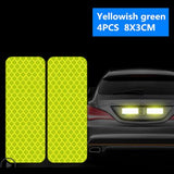 4Pcs Car Reflective Tape Warning Mark sticker Accessories Exterior For Chevrolet Cruze OPEL MOKKA ASTRA J Hyundai Solaris Accent
