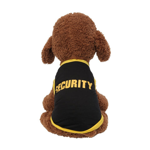 SECURITY Printed Puppy Cat Dog vests Clothes Pet Tank Pug Vest Cotton T Shirt Apparel chaleco para perro colete para cachorro#A