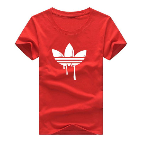 New Summer Cotton Funny T Shirts Short sleeves T-shirt Men Fashion Tide brand Print Red T shirt Men Tops Tees Men's T-shirt