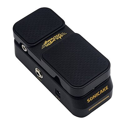 Sonicake 2 in 1 Active Volume Vintage Wah Sound Guitar Effects Pedal LED Light Shows QEP-01