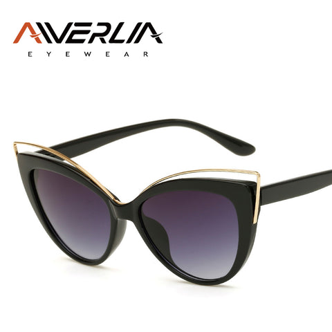 AIVERLIA Cat Eye Sunglasses Women Brand Design Gradient Glasses Vintage Retro Sun Glasses Female Summer Style Eyewear UV400 AI43