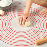 1pcs Silicone Baking Mats Sheet Non-Stick Pizza Pastry Dough Make Pads Professional Kitchen Utensils Bakeware Accessories