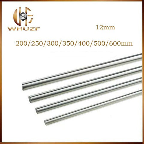 12mm linear shaft L 200 250 300 350 400 450 500 600 650 700 mm chrome plated linear motion guide rail round rod for 3d printer