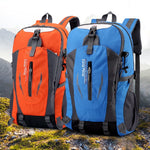 40L 6 colors Outdoor Sports  Mountaineering Backpack Camping Hiking Trekking Rucksack Travel Waterproof Cover Bike Bags