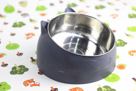 Stainless Steel Cat Dog Bowl Feeder Bevel Protection Cervical Vertebra Pets Food Feeding Bowls For Cats Dogs Drinking Water Bowl
