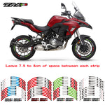 New high quality 12 Pcs Fit Motorcycle Wheel Sticker stripe Reflective  Rim For Benelli TRK 502
