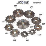 420 10T 11T 12T 13T 14T 15T 16T 17T 18T 19T Tooth 17mm ID Front Engine Sprocket for Motorcycle part Free shipping