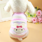 Warm Cat Clothes Autumn Winter Pet Clothing For Small Cats Dogs Cartoon Cat Costumes Soft Fleece Kitten Kitty Coat Jacket Outfit