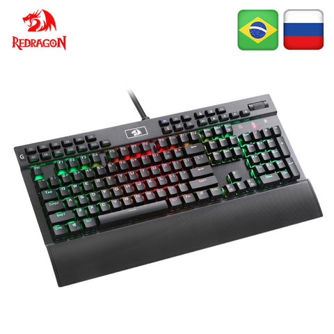 Redragon K550 Aluminum USB Mechanical Gaming Keyboard Rgb Red Purple Switch Diy Ergonomic Key Backlit Anti-Ghosting PC Pro Gamer