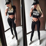 Pfflook New Women Yoga Top + Sports Pants Sport Suit Yoga Set Running Fitness Training Clothing For Women Sportswear For Fitness