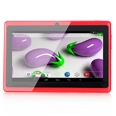 Q88 7 pulgada Tableta androide (Android 4.4 1024 x 600 Quad Core 512MB+8GB) / 32 / Mini USB / Clavija Auricular 3.5mm