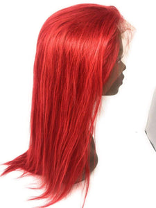 Hot Like Fire Lace Frontal Wig Red, 150% Density Straight Hair