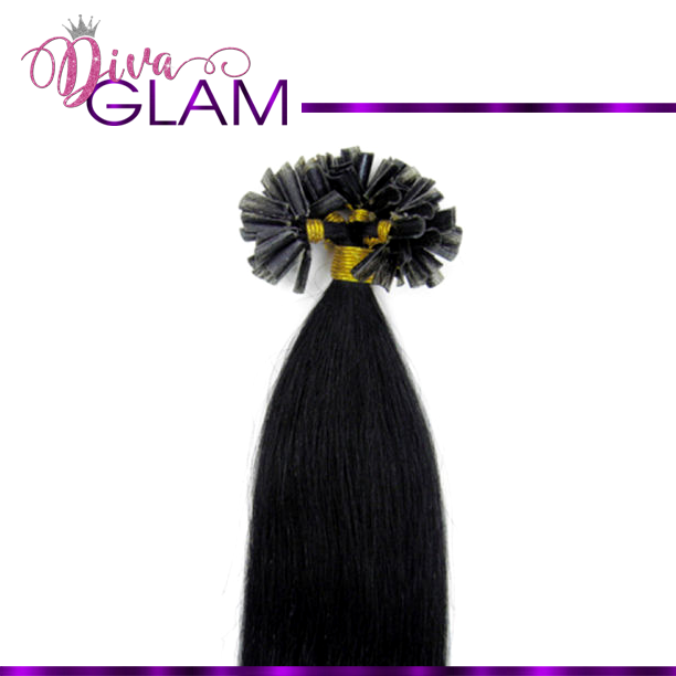 #1 Jet Black U-Tip Extensions (100gm)