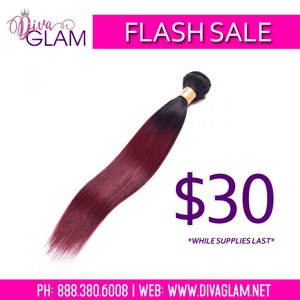 FLASH SALE: 1B/Burgundy Silky Straight