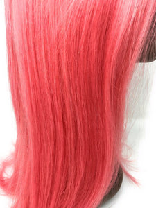 Pink Pony Lace Frontal Wig Pink, 150% Density Straight Hair