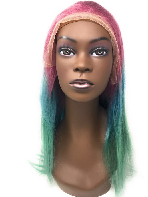 Diva Glam Unicorn Dreams Lace Frontal Wig, 150% Density Straight Hair