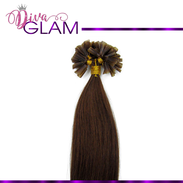 #4 Medium Brown U-Tip Extensions (100gm)