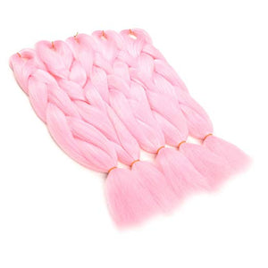 "(24"") Pink - 5 Piece Jumbo Braiding Hair"