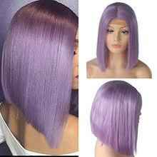 Load image into Gallery viewer, Lilac Lace Front Pre-Plucked Glueless Human Hair Bob Wig