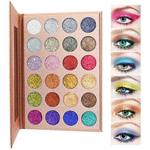 Load image into Gallery viewer, Diva Glam Pressed Glitter Beauty Eye Shadow Palette (24 colors)