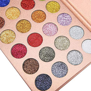 Diva Glam Pressed Glitter Beauty Eye Shadow Palette (24 colors)
