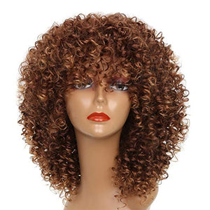 Light Brown Short Curly Wig