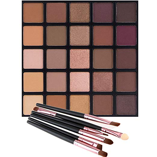 Diva Glam Tranquility Matte & Glitter Eye Shadow Palette (25 colors)