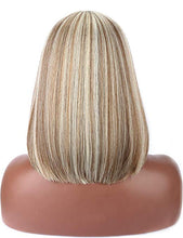 Load image into Gallery viewer, Mixed Blonde Blunt Cut Straight Bob Wig w/Bangs