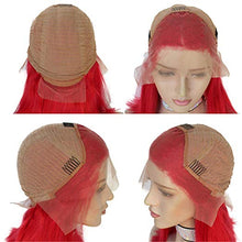 Load image into Gallery viewer, Red Lace Front Pre-Plucked Glueless Human Hair Bob Wig