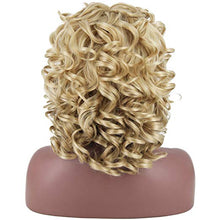 "Load image into Gallery viewer, 16"" Blonde Fluff & Curls Mix Blend Wig"