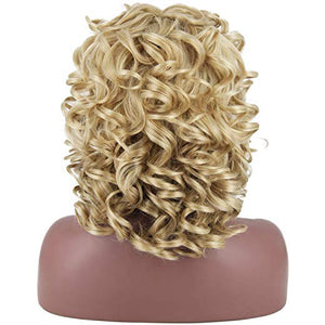"16"" Blonde Fluff & Curls Mix Blend Wig"