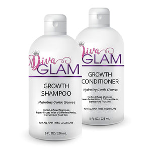 Diva Glam Hair Growth Shampoo & Conditioner Combo 8oz