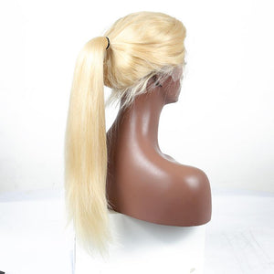 Goldie Lace Frontal Blonde 613 Silky Straight Wig 150% Density