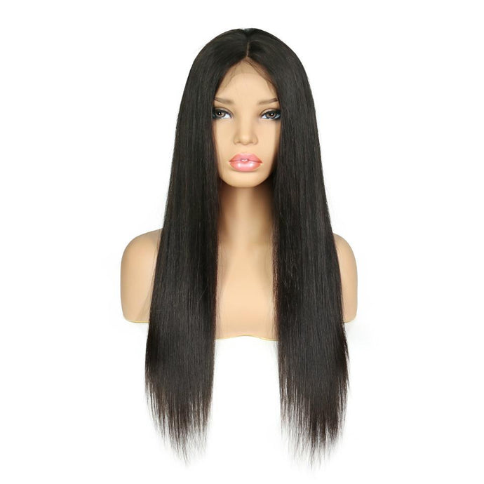 Diva Glam Dianne Full Lace Silky Straight Natural Black Wig 150% Density