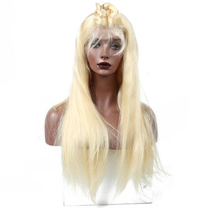 Diva Glam Goldie Lace Frontal Blonde 613 Silky Straight Wig 150% Density