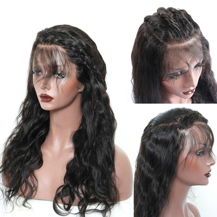 Diva Glam Connie Full Lace Wig 150% Density Body Wave Natural Black