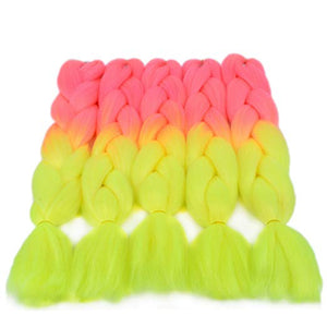"(24"") Jumbo Bubble Gum & Lemonade, 5pc Jumbo Braiding Hair"