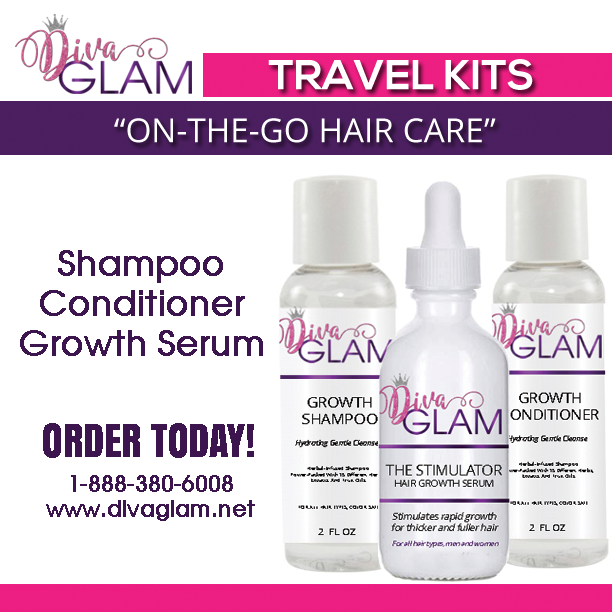 Diva Glam Hair Growth Travel Kits