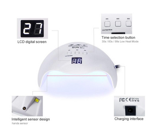 Gel UV LED Nail Lamp 40W with 3 Timers