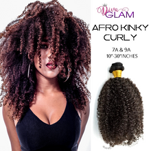Load image into Gallery viewer, Diva Glam Afro Kinky Curly Virgin Hair Extensions
