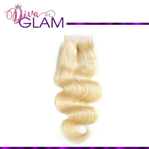 Diva Glam Blonde 613 Body Wave Closure